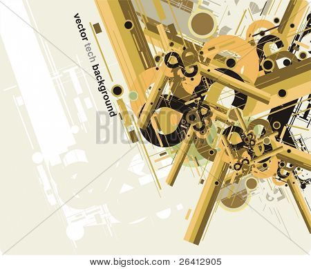 abstract future tech background,vector illustration, party flyer design