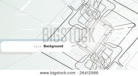 wireframe tech design elements abstract background just ad your text (2)