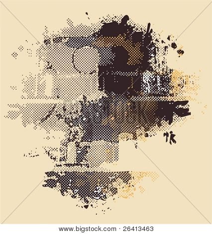 dotted grunge background,vector illustration