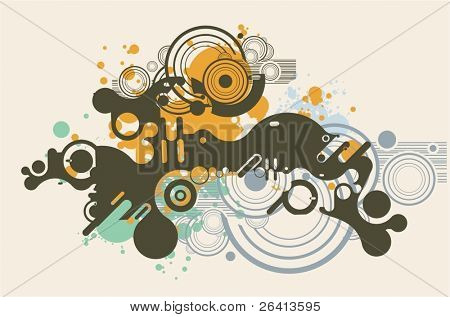 abstract  grunge & tech background series