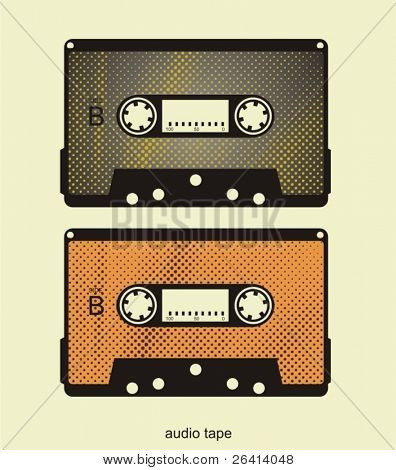 retro audio tape's illustration