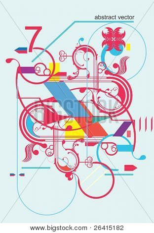 Abstract Design-Elemente, vector illustration