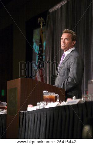 Governor Arnold Schwarzenegger at the California Medical Association lunchin