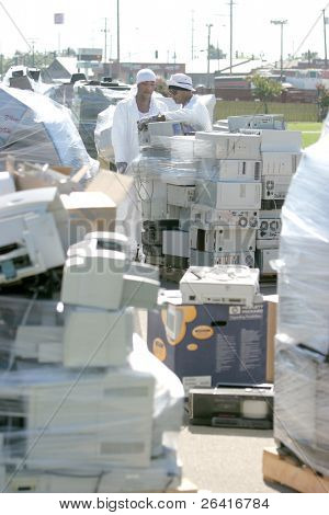 An E Waste drop off location up on Earth Day