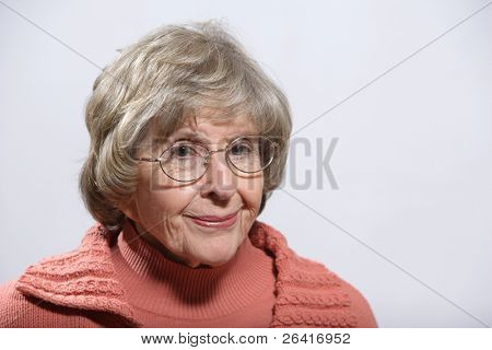 Portrait of a mature woman in the studio