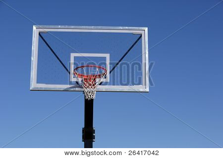 A basket ball hoop on