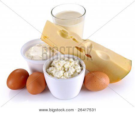 Ovos, queijo e produtos lácteos