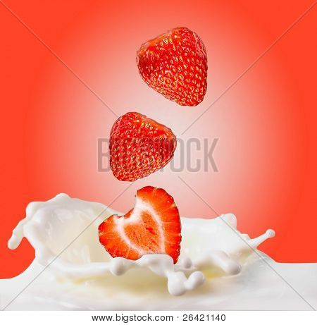 strawberries & milk