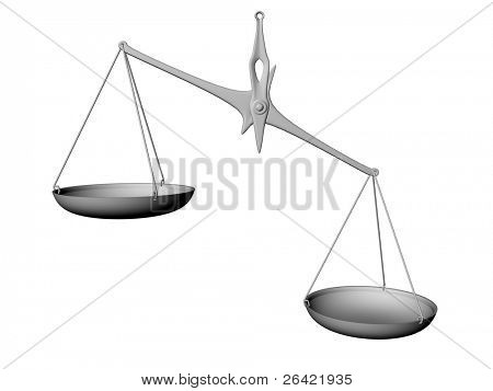 balance isolated on white