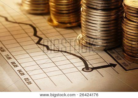 Geld und Diagramm