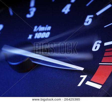 tachometer on maximum level