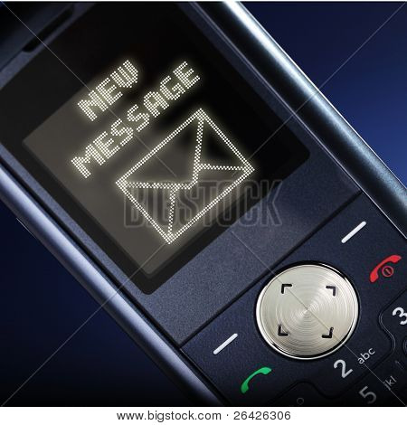 new message on cell phone