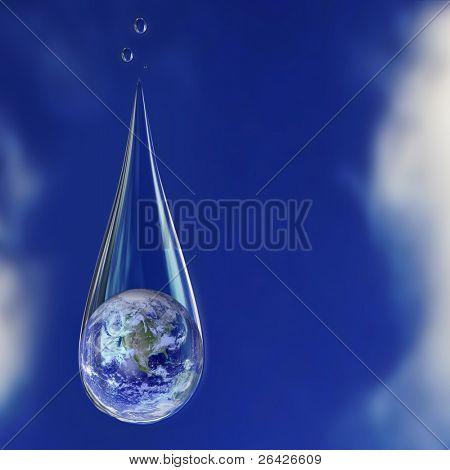 earth in water drop
