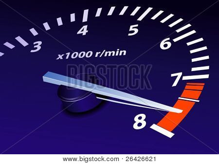 tachometer on maximum level vector image