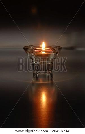 Lone Tea Light Candle