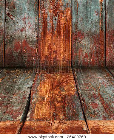 grunge wood deck