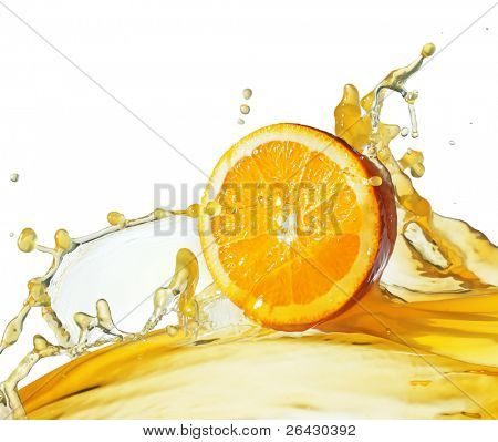 Orange Slice im Saft stream
