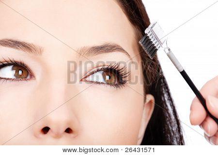Pretty Woman Applying Make Up