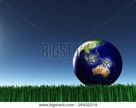 Australasia en hierba