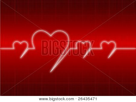 vector of heart's cardiogram