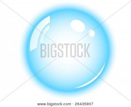 vector of aqua bubble