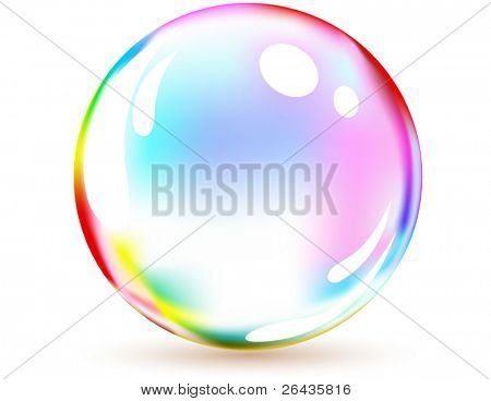 vector of multicolored bubble