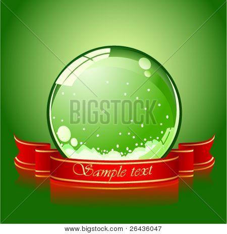 realistische grüne Weihnachten Kugel