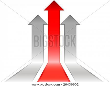 Vector of Onwards & Upwards Arrows