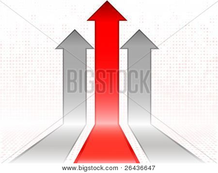Red abstract arrows