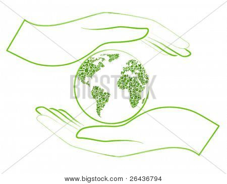 green earth in open hands