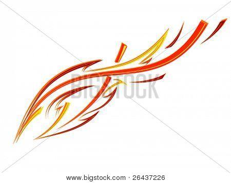 Tatuaje de fuego de velocidad