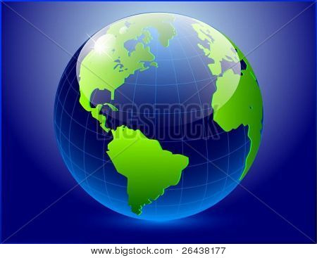 Vector of earth on dark background