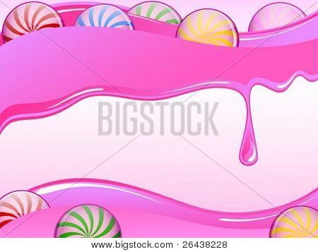 Vector of Colorful candy card