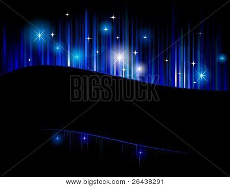 Vector of aurora abstract background