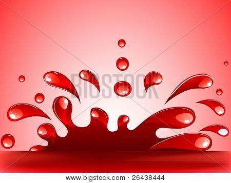 Vektor der platsch rot und Tropfen