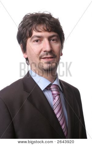 Portait Of Young Businessman Isolated