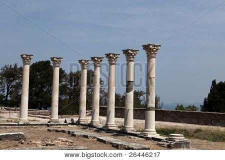 Asklepion place on the island of Kos