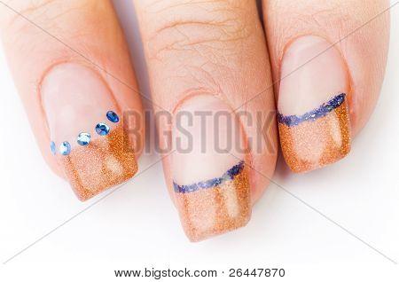 Female Colored Fingernails