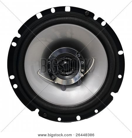 Loudspeaker isolated on white background