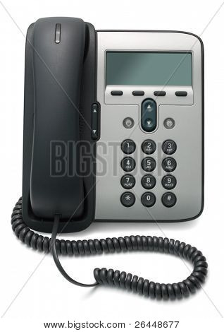 IP Phone isolated on white background