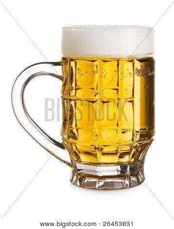 Full beer mug isolated on white background