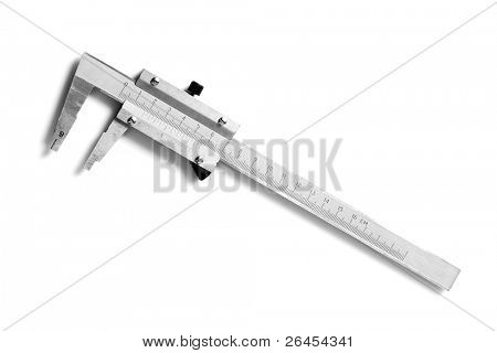 Slide gauge isolated on white background