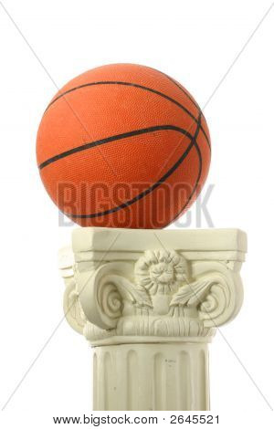 Basketball On Pedestal