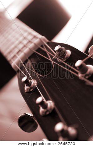 Guitarra de cerca