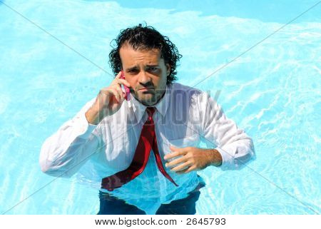Wet Businessman