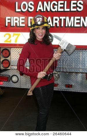 LOS ANGELES - NOV 30:  Kate Linder_ at the Hollywood Chamber Of Commerce 17th Annual Police And Fire BBQ at Wilcox Station on November 30, 2011 in Los Angeles, CA