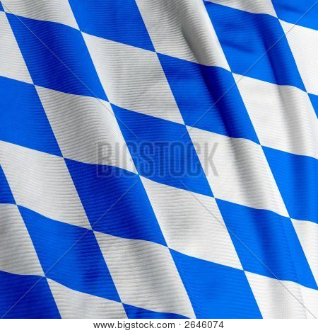 Bavarian Flag Closeup