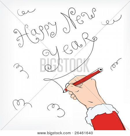 Happy New Year congratulation from Santa Claus