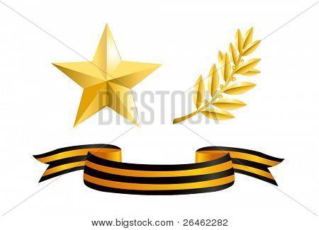 Verteidiger Tag (Goldener Stern, Laurel Branch und George Band)