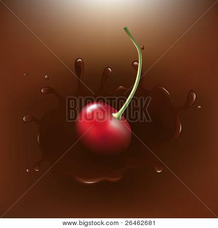 Chocolate-dipped Cherry With Splash